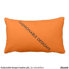 Fashionable design's lumbar pillow