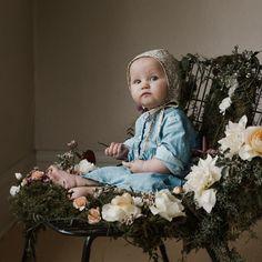 Briar Handmade Liberty Floral Bonnet, Aster - shopminikin