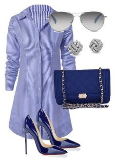 """""""Untitled #127"""" by candicegeorge on Polyvore featuring Chanel, Christian Louboutin, Blue Nile and TOMS"""