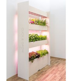 Indoor garden Hydroponics - The Wall Farm Indoor Vertical Garden