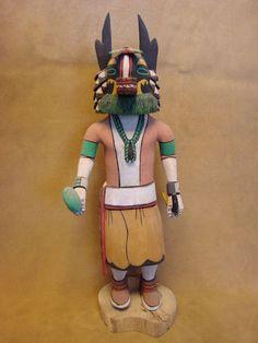 Hopi Indian Hand Carved Hopi Badger Kachina by Elmer Adams! Hopi Pueblo