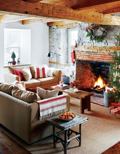 cosy festive atmosphere (via Birch   Bird Vintage Home Interiors)