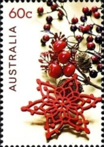 Star and berry decoration. Aussie Christmas, Australian Christmas, All Things Christmas, Christmas Time, Xmas, Merry Christmas, Christmas In Australia, Australian Plants, Flower Stamp