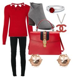 """""""...red..."""" by mandy-921 ❤ liked on Polyvore featuring Balmain, Altuzarra, Chanel and Gucci"""