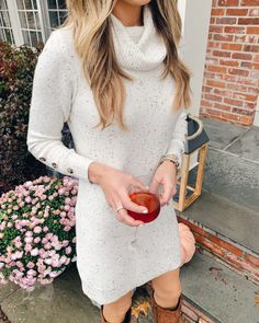 walmart time and tru cowl affordable cowl neck sweater dress for thanksgiving Casual Winter Outfits, Casual Dresses For Women, Stylish Outfits, Clothes For Women, Casual Boots, Holiday Outfits Women, Christmas Outfits, Rock Outfits, Party Outfits
