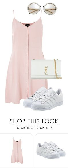 """""""Could you find a daydream?"""" by pageslearntothink on Polyvore featuring Topshop, adidas Originals and Yves Saint Laurent"""