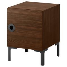 "IKEA, $50. ENGAN nightstand (walnut, 16""x17"")"