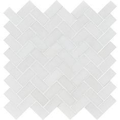 Aspen White Honed Herringbone Marble Mosaics 12 1/8x13 3/8 - Marble System Inc.
