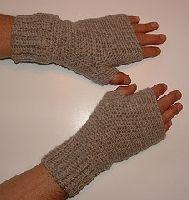 Men's Crocheted Fingerless Gloves Free Pattern | Crochet Direct