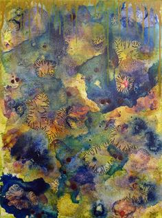 Joanie San Chirico - Bloom 2 | From a unique collection of abstract paintings at http://www.1stdibs.com/art/paintings/abstract-paintings/