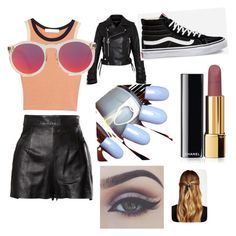 """""""Windy day"""" by paula-flagg on Polyvore featuring Moschino, Kain, Marc by Marc Jacobs, Vans, Chanel, Le Specs and Natasha Accessories"""