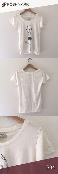 [ZARA] Ballerina Tee - Zara. - Size small. - 10/10 like new condition.  Super soft material! Zara Tops Tees - Short Sleeve