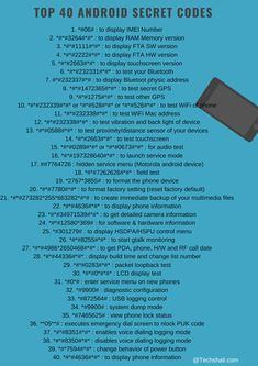 Android Secret Codes Here is the huge list of Android Codes that one can use to carry out many tasks.Here is the huge list of Android Codes that one can use to carry out many tasks. Life Hacks Computer, Computer Basics, Computer Coding, Computer Science, Computer Help, Computer Programming, Android Phone Hacks, Cell Phone Hacks, Smartphone Hacks