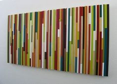 Modern Wood Wall Sculpture by Modern Rustic Art