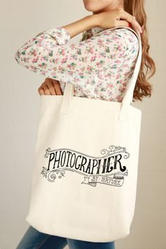 Photographer by Nature Tote Bag