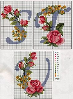 iniciales-con-rosas-7.jpg (848×1150)