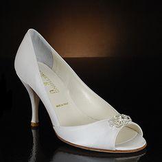 something bleu crazy white & ivory  Wedding Shoes