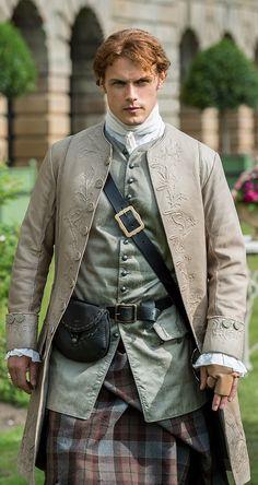 Jamie Fraser ~ Outlander Episode 205 Is this jacket trapunto ?