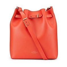 Leather Medium Bucket Bag