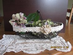 Shabby Paris French Chic Rustic wire basket by WestofChelsea, $13.99