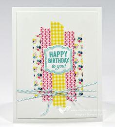 Verjaardagskaartje gemaakt met washi tape
