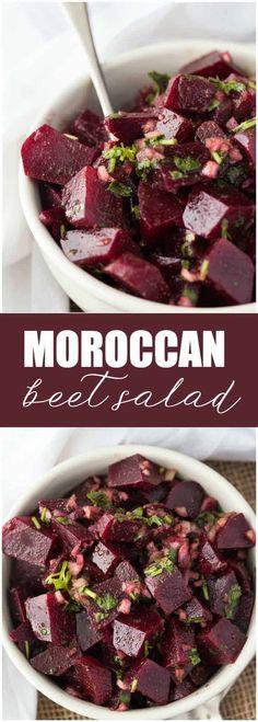 Salad Moroccan Beet Salad - Loaded with nutrients and full of flavor!Moroccan Beet Salad - Loaded with nutrients and full of flavor! Beet Salad Recipes, Vegetable Recipes, Vegetarian Recipes, Cooking Recipes, Healthy Recipes, Vegetarian Times, Smoothie Recipes, Potato Recipes, Salad Recipes Healthy Vegetarian