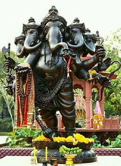 Hindu God Lord Shri Ganesha has several names. He is also known as Vinayaka, Ganapathi etc. Those who worship Bhagwan Sri Ganesha can overcome all difficulties. Ganesh Lord, Sri Ganesh, Lord Ganesha Paintings, Ganesha Art, Spiritual Paintings, Ganesh Bhagwan, Ganesh Wallpaper, Ganesha Pictures, Lord Shiva Family