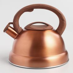 Buy a stylish and unique Tea Kettle for your kitchen - from Cast Iron teapots, enamel stove-top Kettles, loose leaf Tea Infusers, and classic Ceramic Pots. Copper Tea Kettle, Seasoning Cast Iron, World Market Store, Copper Kitchen, Taupe Kitchen, Cast Iron Cookware, Kitchen Items, Kitchen Tools, Interiors