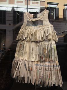 Paper dress.  Italy 2011