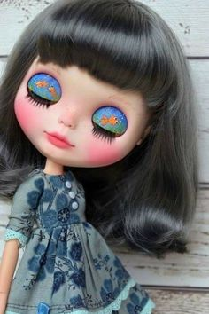 Blythe Dolls, Barbie Dolls, Valley Of The Dolls, Minnie, Little Miss, Big Eyes, Custom Clothes, Halloween Face Makeup, Charmed