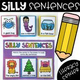 Silly Sentences - Writing Center by My Teaching Pal Different Sentences, Silly Sentences, Pre K Activities, Reading Activities, Writing Center Kindergarten, Writing Centers, Kindergarten Worksheets, Writing Lessons, Writing Skills