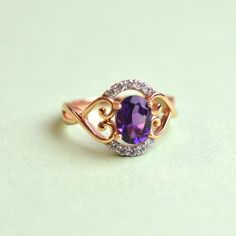 Make a statement with this stunning amethyst and diamonds ring! Would you wear this beautiful ring?