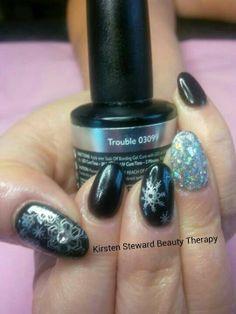 Artistic nail design xmas nail art