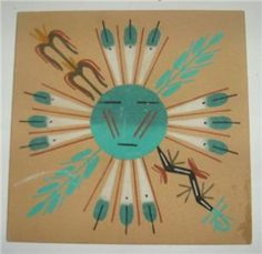 native american art projects for elementary students Navajo Native American Decor, Native American Symbols, Native American Pottery, American Indian Art, Sand Painting, Sand Art, Navajo Art, Atelier D Art, Nativity Crafts