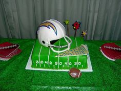 San Diego Chargers Birthday Cake