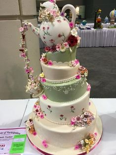 Over 30 of the most Awesome Cake Ideas! Everything from Kids birthday cakes to wedding cakes, incredible decorated cakes, baby shower cakes & more! Gorgeous Cakes, Pretty Cakes, Amazing Cakes, Tea Cakes, Cupcake Cakes, Bolo Fack, Peggy Porschen Cakes, Teapot Cake, Homemade Pastries