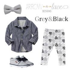 Grey & Black #arrowandlacelooks #Vonbon Bow Tie Boy