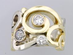 Dunkins Diamonds Remount event | Large ring to accomodate 3 diamonds from customer.