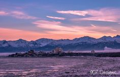 Winter Solstice view of Anchorage, Alaska 2015.