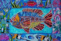 "Needlepoint Canvas ""Fish Beneath The Sea "" | eBay"
