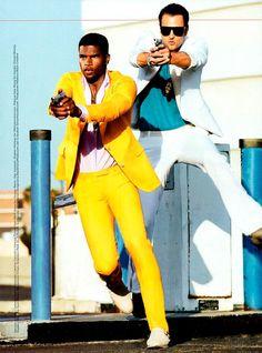 Miami Vice | Broderick Hunter and Milan Krouzil by Tony Kelly for GQ Italia