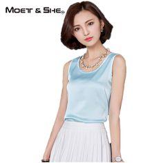 Summer Women Blouses New Casual Chiffon Silk Sleeveless Yellow Silver Purple Bralette Tank Tops Shirt 14 Color T62295R