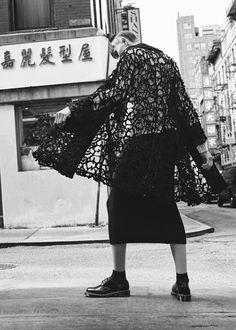 Comme des Garcons Ester Raschel Lace Coat (Black)
