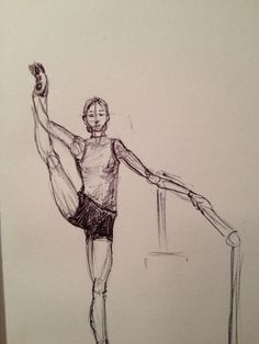 Dancer at the barre. MGV