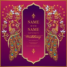 Discover thousands of Premium vectors available in AI and EPS formats Indian Wedding Invitation Cards, Wedding Invitation Background, Free Wedding Invitation Templates, Wedding Invitation Card Template, Card Templates, Wedding Stationery, Wedding Background Images, Wedding Card Design Indian, Indian Wedding Cards