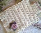 Crochet Hot Water Bottle Cover - Shabby Chic Roses