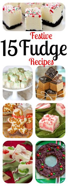 Homemade Christmas Fudge Recipes - the perfect Christmas Gift! The best DIY holiday fudge: Gingerbread, Mint, Candy Cane, Bailey's, Salted Caramel, & more!