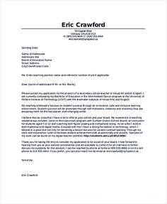 teaching position cover letter Teaching Cover Letter Examples for Successful Job Application Application Letter For Teacher, Teacher Cover Letter Example, Job Application Cover Letter, Sample Resume Cover Letter, Professional Cover Letter Template, Resume Cover Letter Examples, Simple Cover Letter Template, Cover Letter Tips, Cover Letter Design