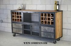 industrial style buffets | Liquor Cabinet/Bar - Vintage Industrial, Urban Modern Design. Buffet