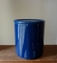 Arabia Finland Kilta / Teema Blue Ceramic Kitchen Jar by Kaj Franck Kitchen Canisters, Cobalt Blue, Finland, Basin, Porcelain, Ceramics, Tableware, Glass, Etsy